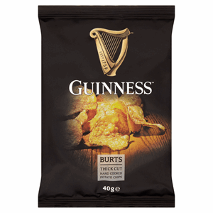 Burts Guinness Thick Cut Hand Cooked Potato Chips 40g Image