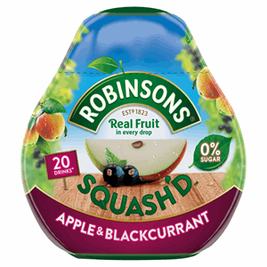 Robinsons Squash'd Apple & Blackcurrant On-The-Go Squash 66ml Image