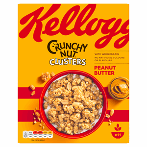 Kellogg's Crunchy Nut Cluster Peanut Butter 525g Image