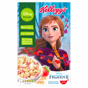 Disney Kitchen Frozen II Strawberry Flavour Multi-Grain Shapes Cereal 350g Image