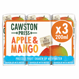 Cawston Press Original Recipes Apple & Mango 3 x 200ml Image