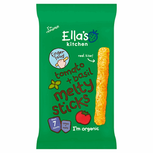 Ella's Kitchen Organic Tomato + Basil Melty Sticks 7 Months 16g Image