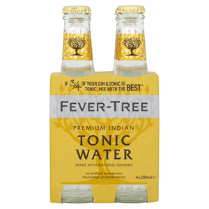 Fever-Tree Premium Indian Tonic Water 4 x 200ml Image