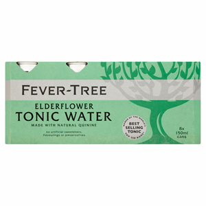 Fever-Tree Elderflower Tonic Water 8 x 150ml Image