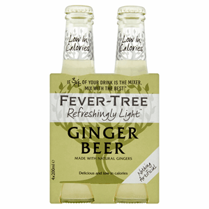 Fever-Tree Refreshingly Light Ginger Beer 4 x 200ml Image