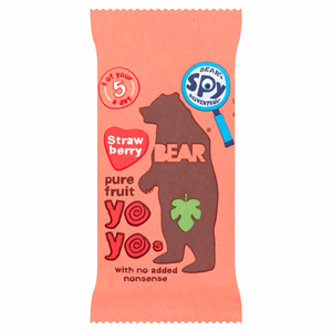 BEAR Strawberry Pure Fruit Yoyos 20g Image