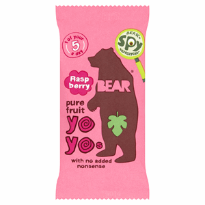 BEAR Raspberry Pure Fruit Yoyos 20g Image