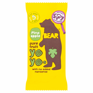 BEAR Pure Fruit Pineapple Yoyos 20g Image