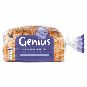 Genius Gluten Free Sliced Fruit Loaf 400g Image