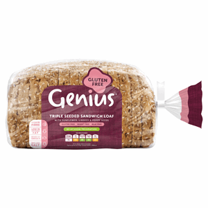 Genius Gluten Free Triple Seeded Sandwich Loaf 535g Image