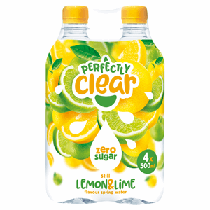 Perfectly Clear Still Lemon & Lime Flavour Spring Water 4 x 500ml Image