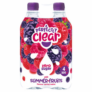 Perfectly Clear Still Summer Fruits Flavour Spring Water 4 x 500ml Image