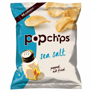 Popchips Sea Salt Potato Chips 23g Image