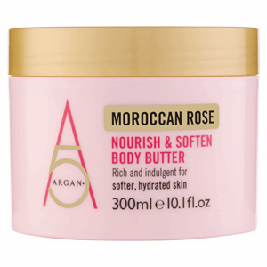 Argan+ Moroccan Rose Nourish & Soften Body Butter 300ml Image