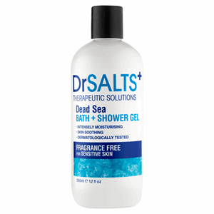 Dr Salts Therapeutic Solutions Fragrance Free Dead Sea Bath + Shower Gel 350ml Image
