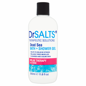 Dr Salts+ Therapeutic Solutions Relax Therapy with Rose Dead Sea Bath + Shower Gel 350ml Image