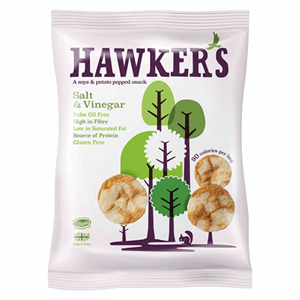 Hawkers Salt & Vinegar Popped Snack 23g Image