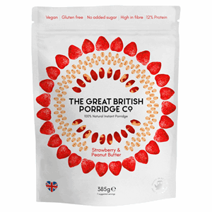 The Great British Porridge Co. Strawberry & Peanut Butter 385g Image
