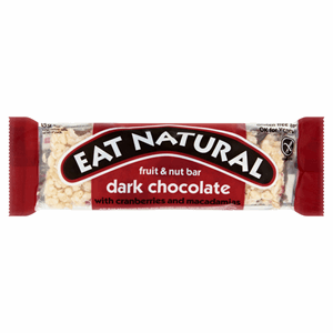 Eat Natural Fruit & Nut Bar Dark Chocolate with Cranberries and Macadamias 45g Image