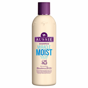 Aussie Miracle Moist Shampoo For Dry, Really Thirsty Hair 300ML Image