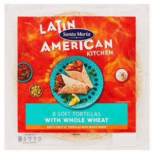 Santa Maria Latin American Kitchen 8 Soft Tortillas with Whole Wheat 320g Image