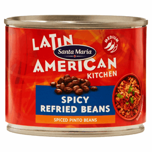 Santa Maria Latin American Kitchen Spicy Refried Beans 215g Image