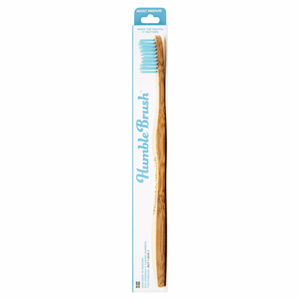 Humble Brush Adult Medium Blue Bristle Toothbrush Image