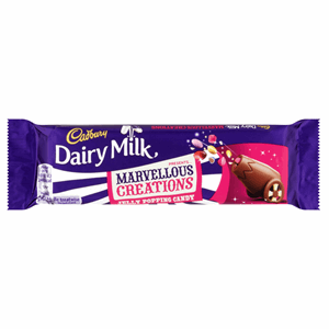 Cadbury Dairy Milk Marvellous Creations Jelly Popping Candy Shells 47g Image