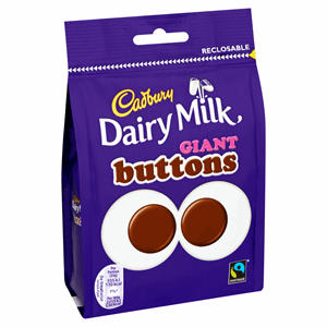 Cadbury Dairy Milk Giant Buttons Chocolate Bag 119g Image