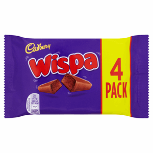 Cadbury Wispa Chocolate Bar 4 Pack 102g Image