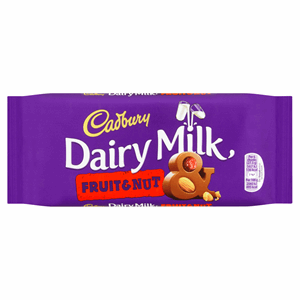 Cadbury Dairy Milk Fruit and Nut Chocolate Bar 110g Image