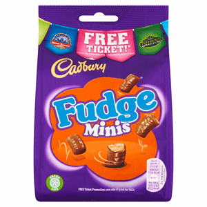 Cadbury Fudge Minis Chocolate Bag 120g Image