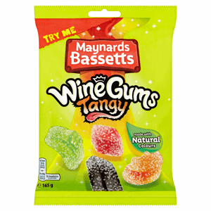 Maynards Bassetts Wine Gums Tangy Sweets Bag 165g Image