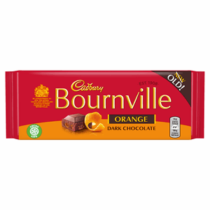 Cadbury Bournville Orange Dark Chocolate Bar 100g Image