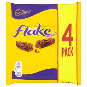 Cadbury Flake Chocolate Bar 4 Pack 80g Image