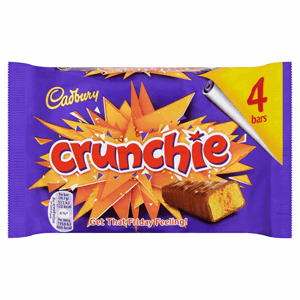 Cadbury Crunchie Chocolate Bar 4 Pack 104.4g Image