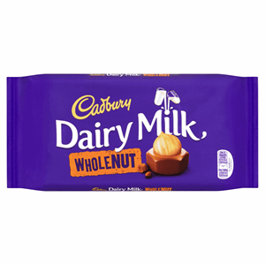 Cadbury Dairy Milk Whole Nut Chocolate Bar 200g Image