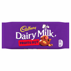 Cadbury Dairy Milk Fruit and Nut Chocolate Bar 200g Image
