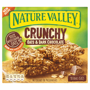 Nature Valley Crunchy Oats & Dark Chocolate 5 x 42g (210g) Image