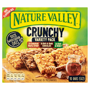 Nature Valley Crunchy Variety Pack Cereal Bars 5 x 42g Image