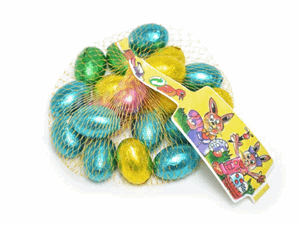 Crest Solid Milk Choc Eggs In Nets 90g Image